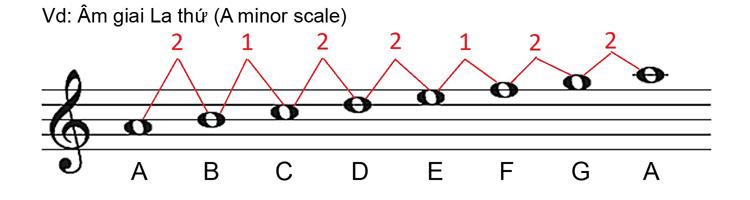 Âm giai thứ có một mối quan hệ nhất định với âm giai trưởng đó là cùng  chung hóa biểu (mỗi âm giai trưởng đều có một âm giai thứ tương ứng) ...